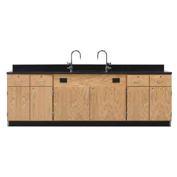 Wall Service Bench With Door and Drawer by Diversified Woodcrafts