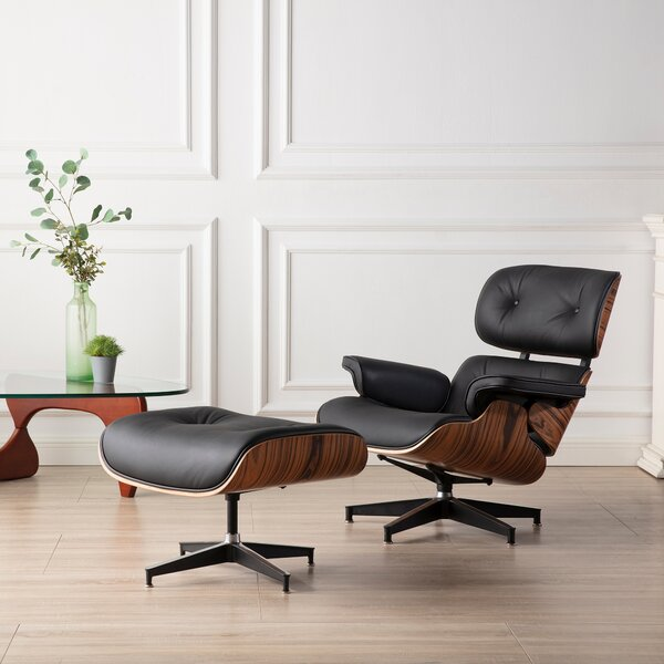 Elstone Leather Manual Glider Recliner With Ottoman By Brayden Studio
