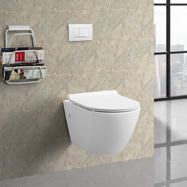 Sublime® Dual Flush Wall Hung Toilet by Swiss Madison