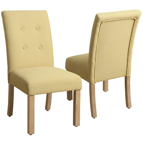 Traynor 4-Button Tufted Side Chair (Set of 2) by Alcott Hill