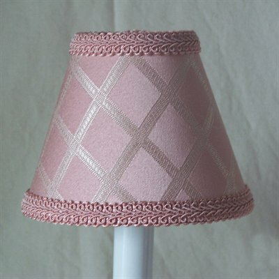 Her Majesty 4 H Fabric Empire Candelabra Shade ( Clip On ) in Pink