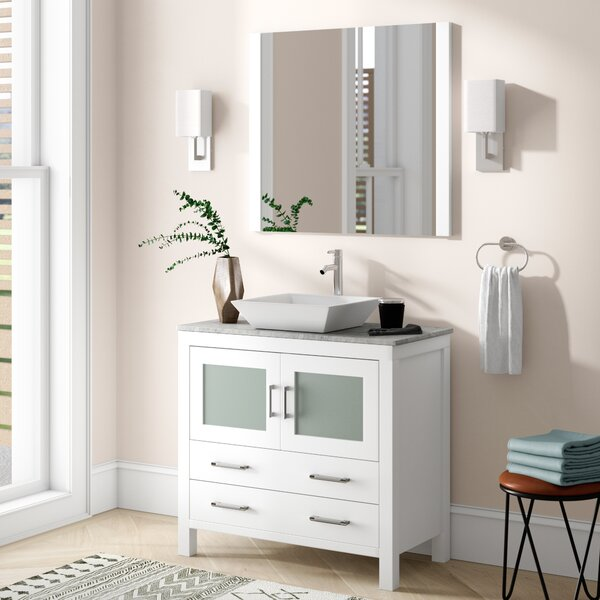 Cartagena 30 Single Bathroom Vanity Set with Mirror by Mercury Row