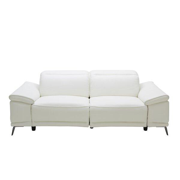 Compare Price Brookville Leather Reclining Sofa