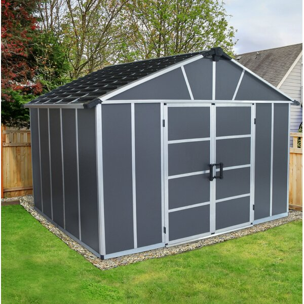 Yukon 11 Ft. W x 9 Ft. D Polycarbonate Storage Shed by Palram