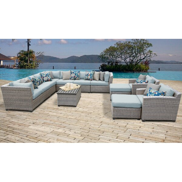Merlyn 13 Piece Sectional Seating Group with Cushions by Sol 72 Outdoor