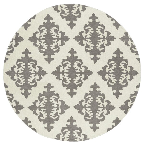 Slovan Hand-Tufted Gray/Ivory Area Rug by Darby Home Co