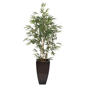 Camelopardalis Artificial Yellow Bamboo Tree In Planter