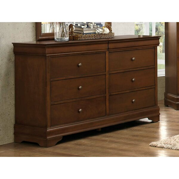 Rashad Wooden 6 Drawer Double Dresser by Alcott Hill