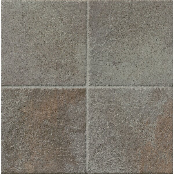 Rok 6.5 x 6.5 Porcelain Field Tile in Nero by Bedrosians