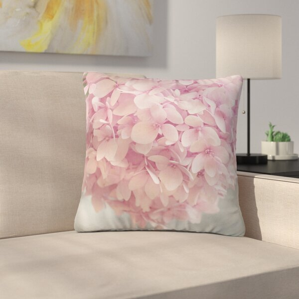 Suzanne Harford Hydrangea Flowers Floral Outdoor Throw Pillow by East Urban Home