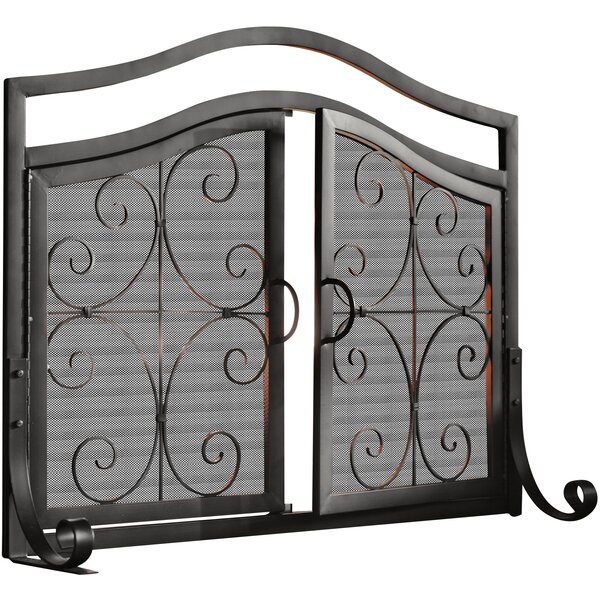 Single Iron Fireplace Screen By Plow & Hearth