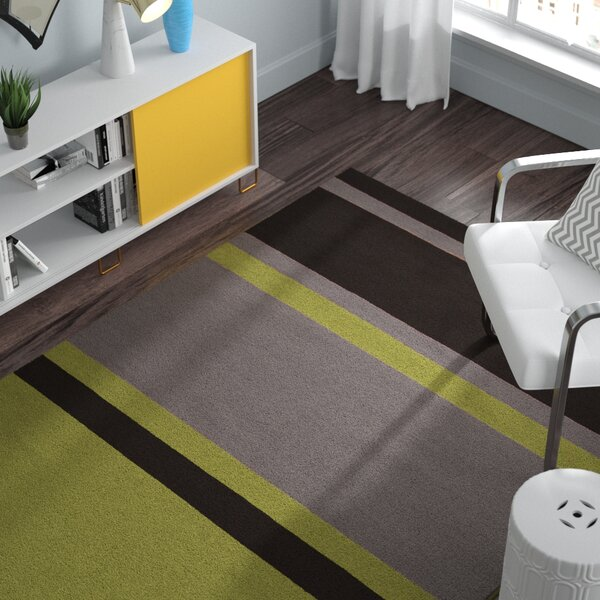 Marion Lime Striped Area Rug by Zipcode Design