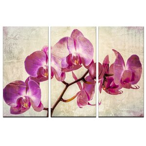 'Painted Petals XVIII' Painting Print on Wrapped Canvas by Ready2hangart