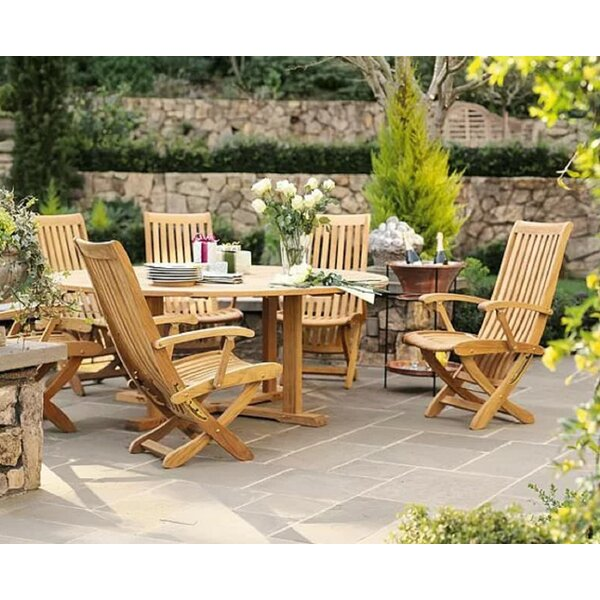 Kurtis Luxurious 5 Piece Teak Dining Set by Rosecliff Heights