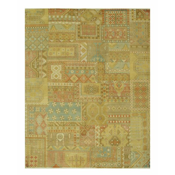 Flint Hand-Knotted Gold Area Rug