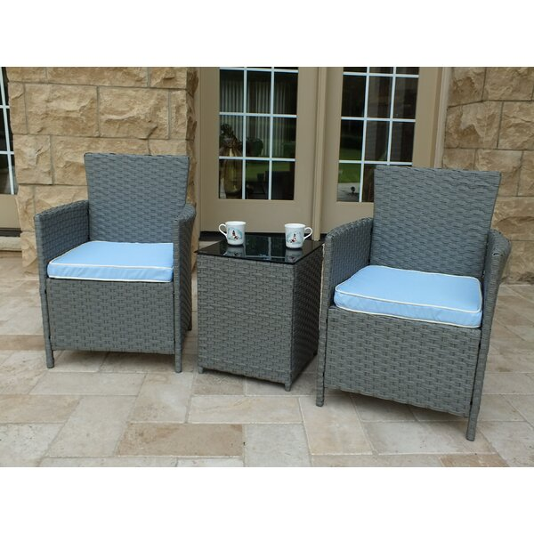 Pendergast 3 Piece Rattan Seating Group With Cushions By Andover Mills