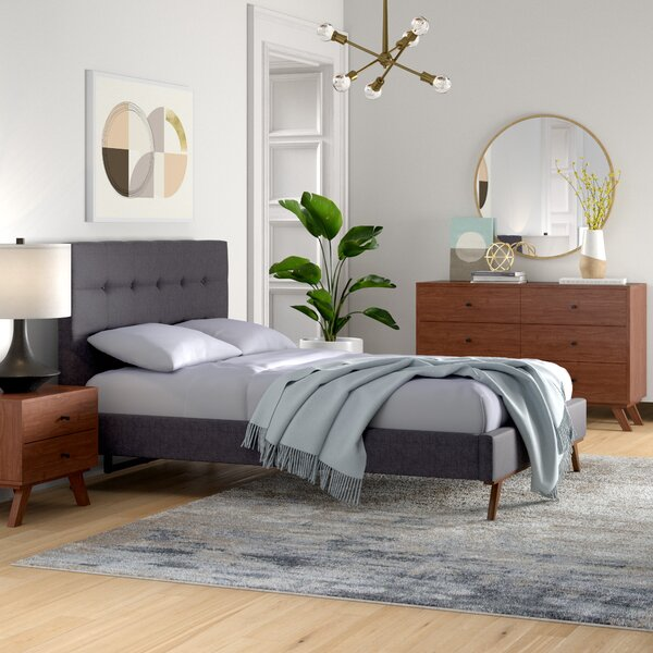 Rocco Upholstered Platform Bed by Foundstone