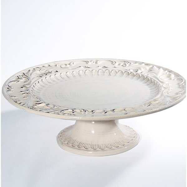 Baroque Round Footed Platter by Intrada Italy