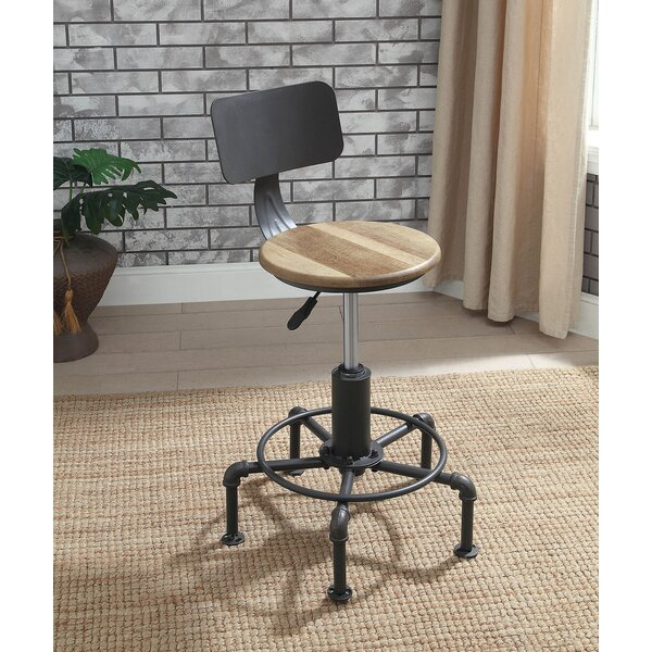 Angelica Adjustable Height Bar Stool by 17 Stories