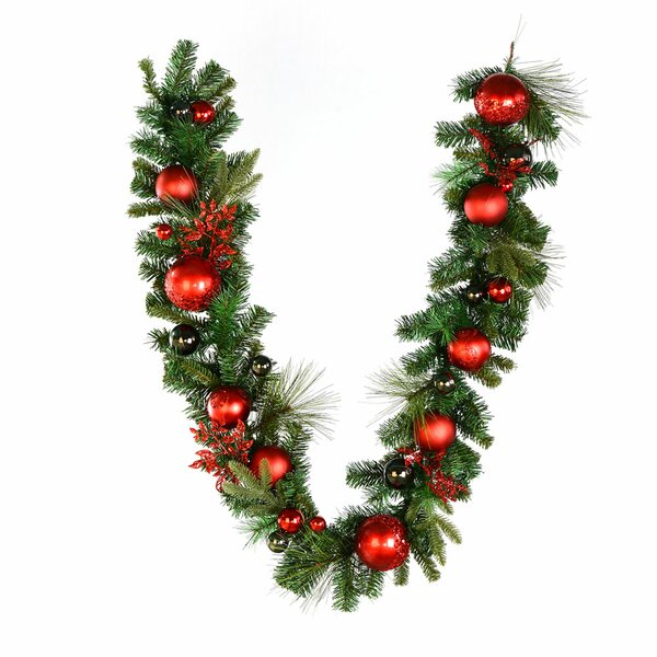 Mixed Pre-decorated Garland by The Holiday Aisle