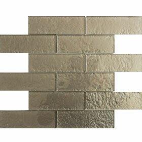 Cartagena 2 x 6 Glass Field Tile in Carbon by Vetromani