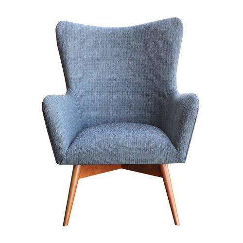 Wesley Wingback Chair Happy Barok Upholstery: Grey