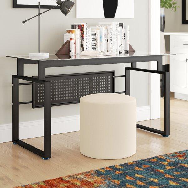 Hattie Black Office Glass Desk