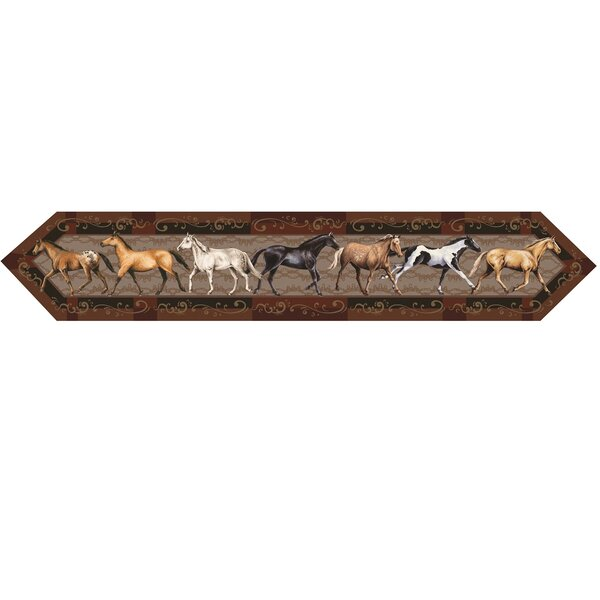 Horse Table Runner by River's Edge Products