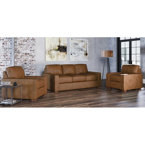 Blanca 3 Piece Leather Living Room Set By Westland And Birch Best #1 ...