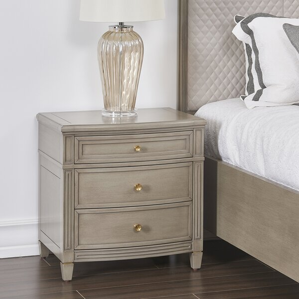 Kazuko 3 Drawer Nightstand by Ophelia & Co.