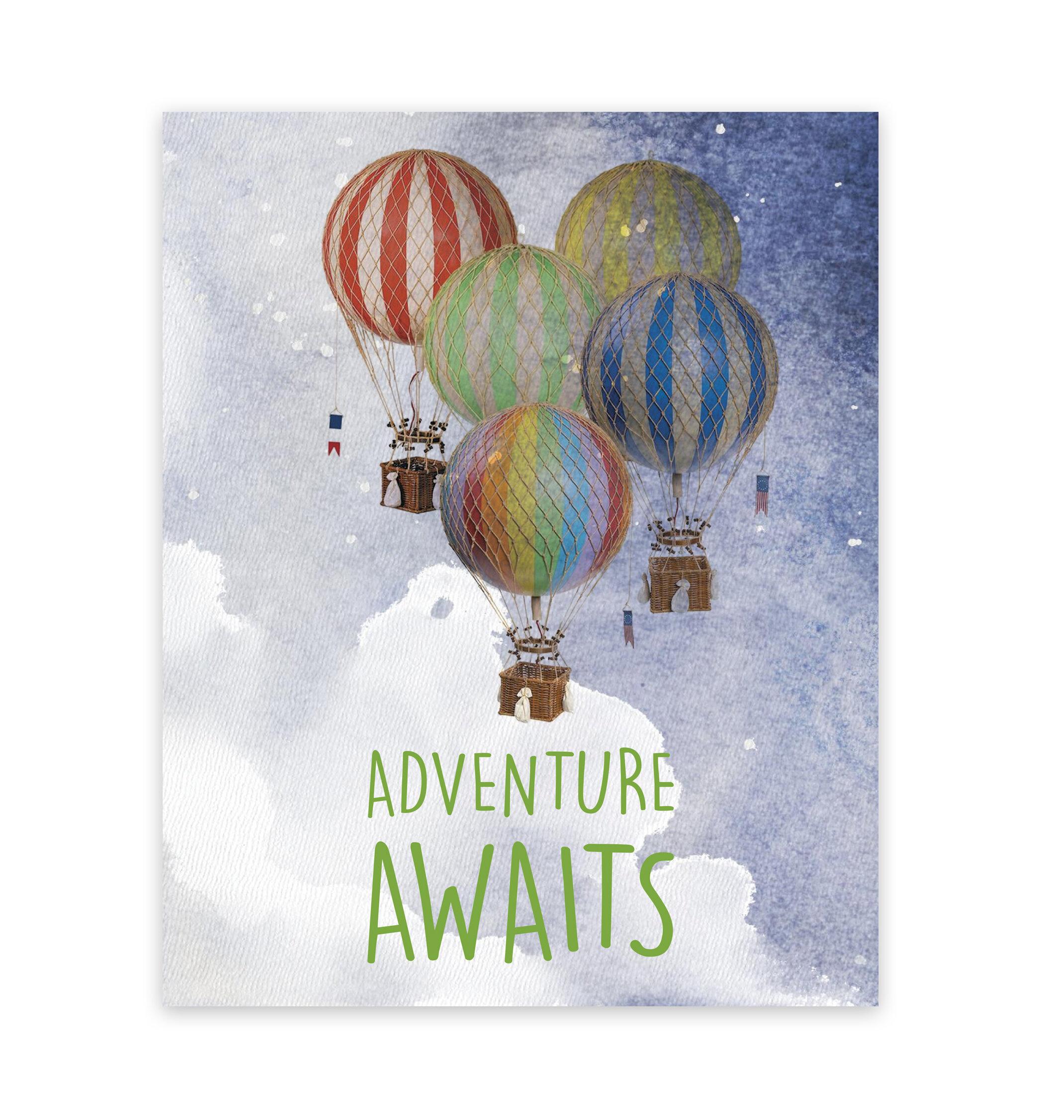 Children Inspire Design Adventure Awaits Hot Air Balloons Frame
