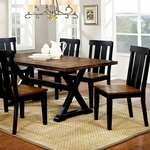 Weiler Transitional Plank Dining Table by Millwood Pines Millwood Pines