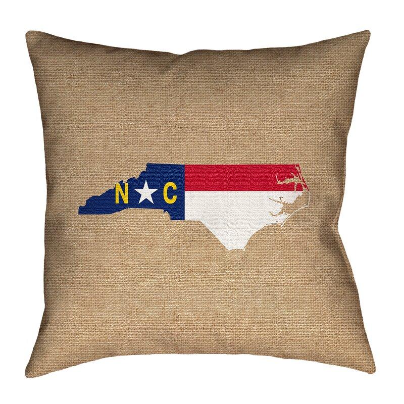 East Urban Home North Carolina Flag Pillow In Faux Linen Double Sided Print Pillow Cover Wayfair