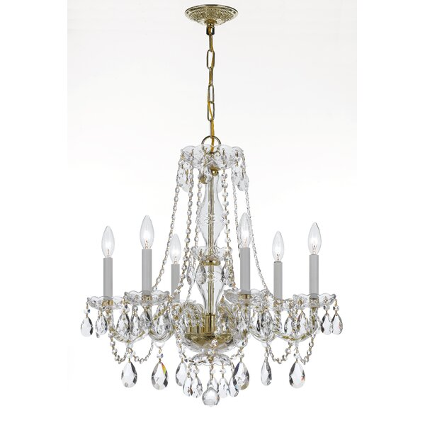 Bragg 6-Light Crystal Chandelier by House of Hampton