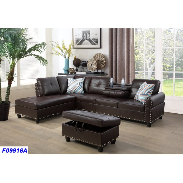 Schwindt Sectional with Ottoman by Charlton Home