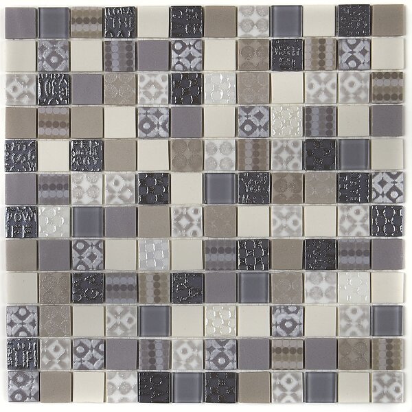 Lexington 12 x 12 Glass Mosaic Tile in Metro Taupe by Itona Tile