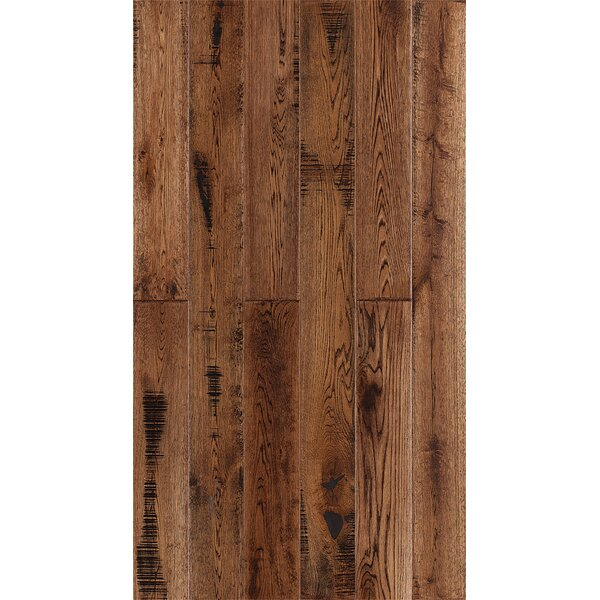 Jasmine 6 Engineered Oak Hardwood Flooring in Distressed Tobacco by Welles Hardwood