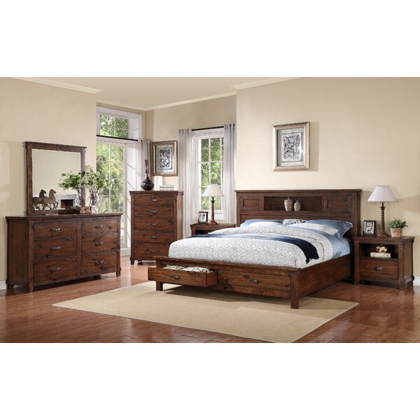 Camas Platform Bookcase Configurable Bedroom Set by Loon Peak