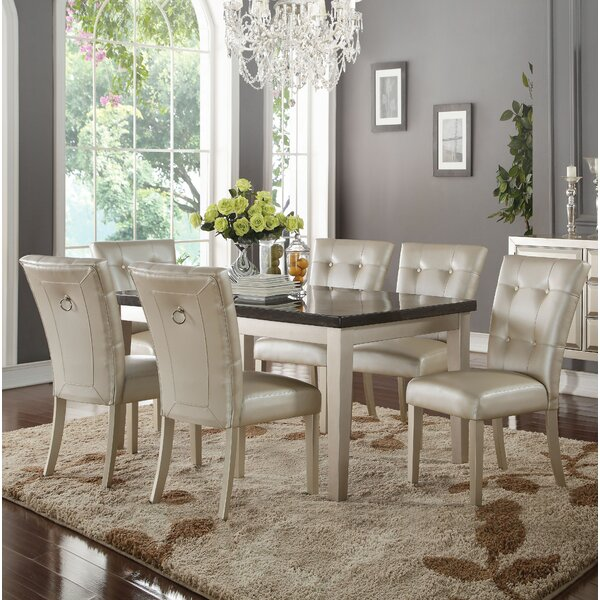 Raoul 7 Piece Dining Set by Rosdorf Park