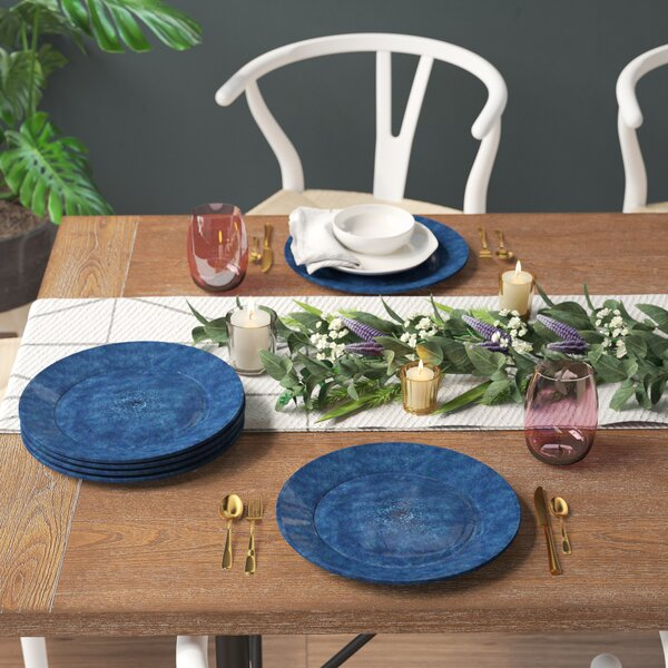 Seth Glaze Melamine Dinner Plate (Set of 6) by Mint Pantry