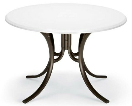 Werzalit 42 Round Deluxe Dining Table by Telescope Casual