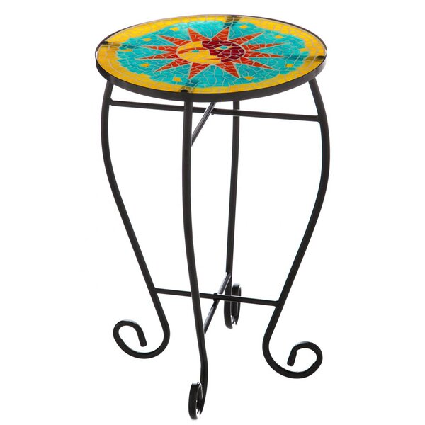 Mosaic Outdoor Safe Glass End Table by Evergreen Enterprises, Inc