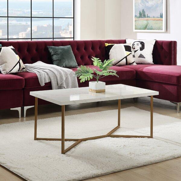 Sivalls Cross Legs Coffee Table With Storage By Orren Ellis
