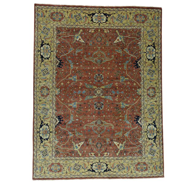 One-of-a-Kind Salzman Re-creation Hand-Knotted Red Area Rug by Astoria Grand