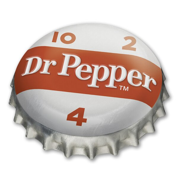 Dr Pepper 10-2-4 Bottle Cap Metal Wall Décor by PB