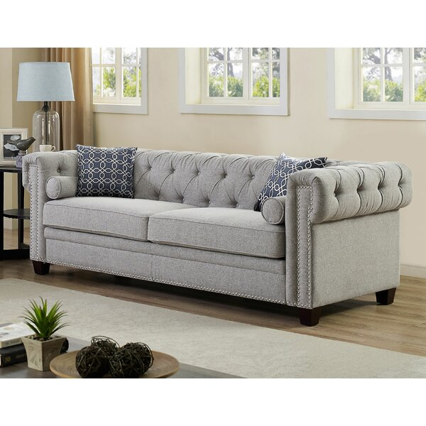 High Quality Quan Chesterfield Sofa by Canora Grey by Canora Grey