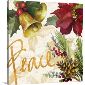 'Christmas Poinsettia II' Painting Print on Wrapped Canvas by The Holiday Aisle