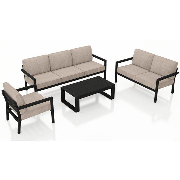 Iliana 5 Piece Sofa with Sunbrella Cushions by 17 Stories