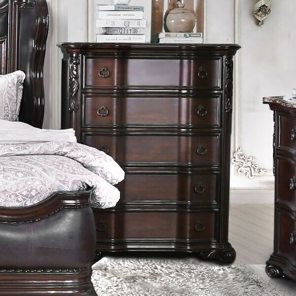Rippy Traditional 5 Drawers Chest by Astoria Grand