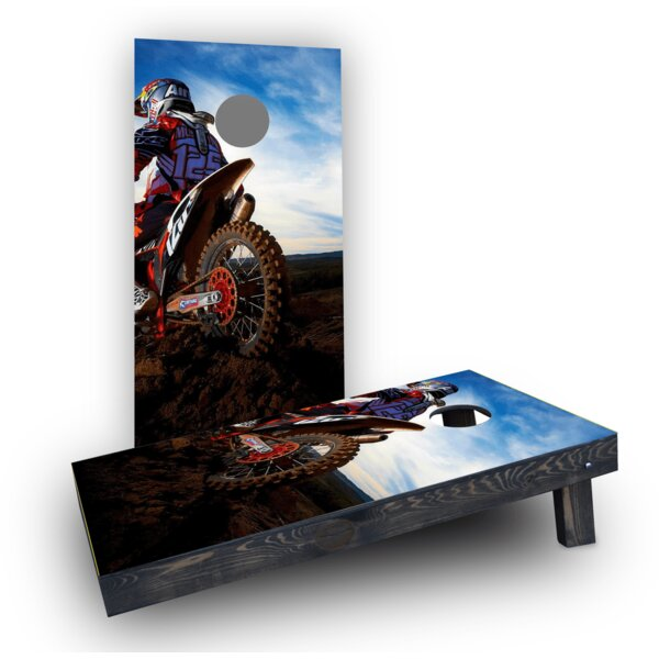Moto Riding (Set of 2) by Custom Cornhole Boards